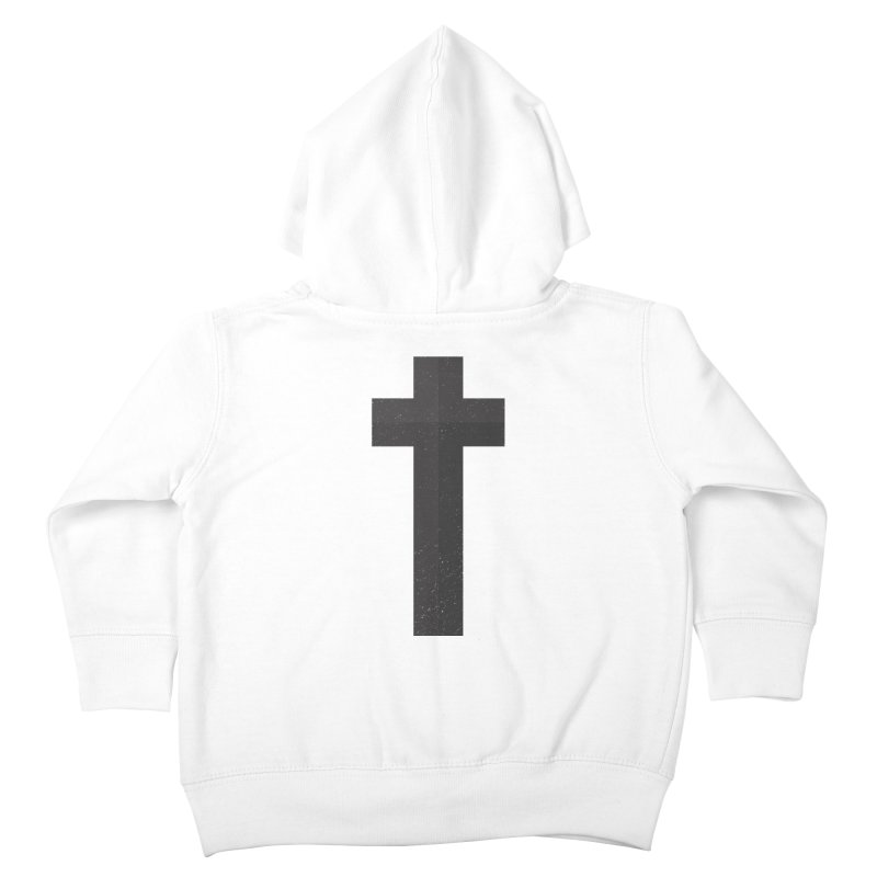 The Cross (black) Kids Toddler Zip-Up Hoody by Reformed Christian Goods & Clothing