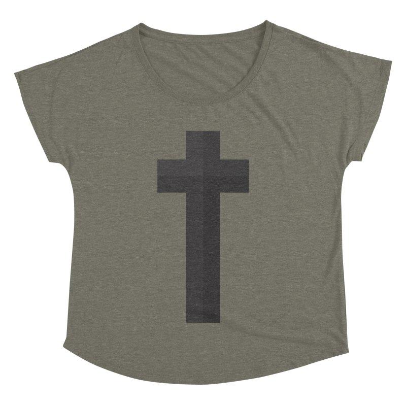 The Cross (black) Women's Dolman by Reformed Christian Goods & Clothing