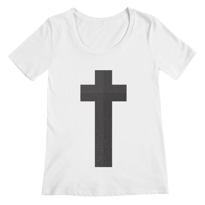The Cross (black) Women's Scoopneck by Reformed Christian Goods & Clothing