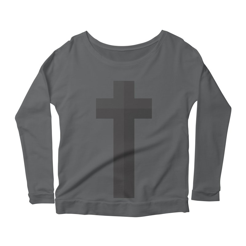 The Cross (black) Women's Longsleeve T-Shirt by A Worthy Manner Goods & Clothing