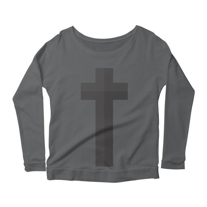 The Cross (black) Women's Longsleeve Scoopneck  by Reformed Christian Goods & Clothing