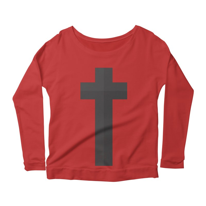 The Cross (black) Women's Longsleeve Scoopneck  by Reformed Christian Goods & Clothing