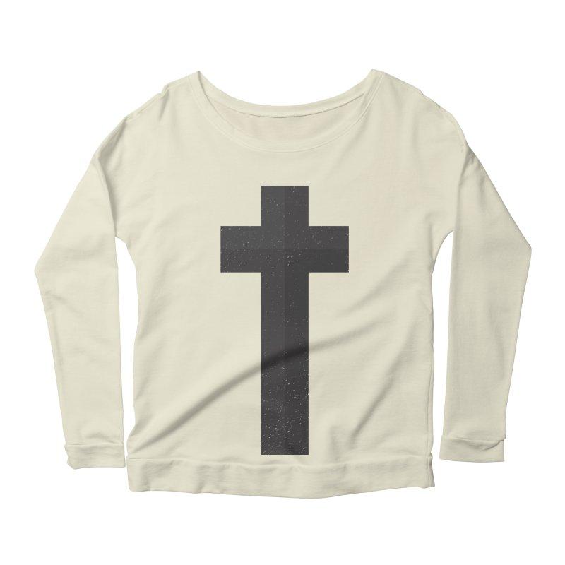 The Cross (black) Women's Scoop Neck Longsleeve T-Shirt by Reformed Christian Goods & Clothing