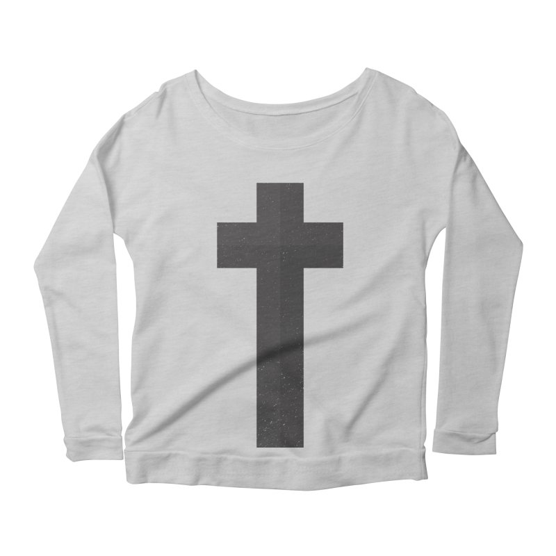 The Cross (black) Women's Scoop Neck Longsleeve T-Shirt by Reformed Christian Goods & Clothing