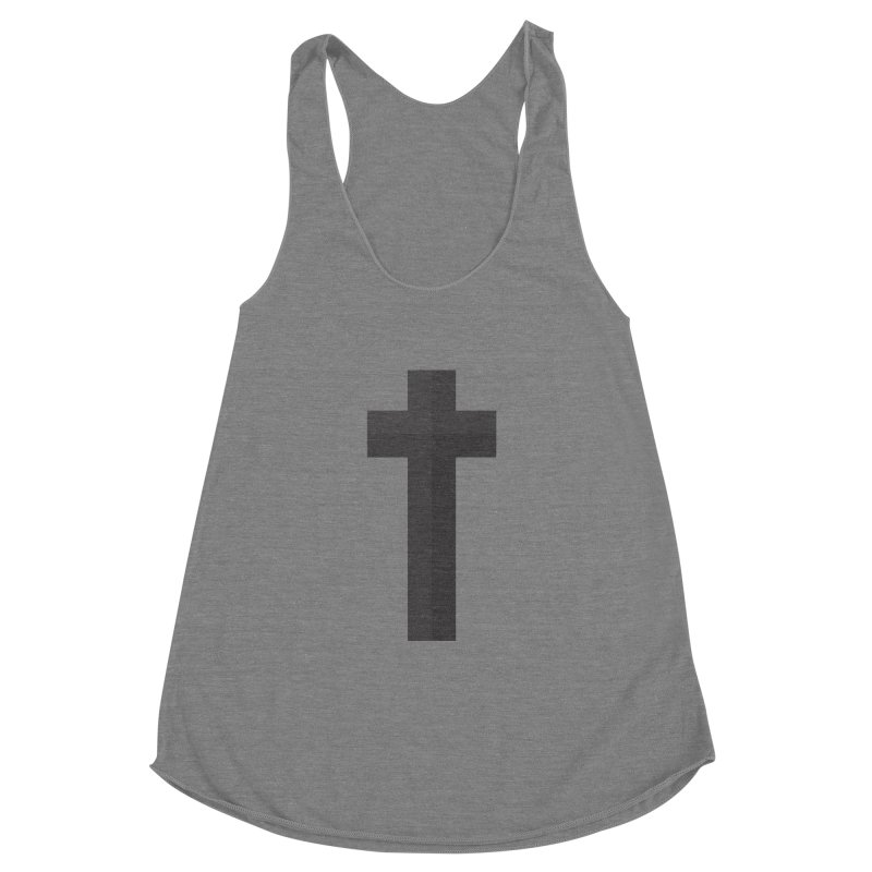 The Cross (black) Women's Racerback Triblend Tank by Reformed Christian Goods & Clothing