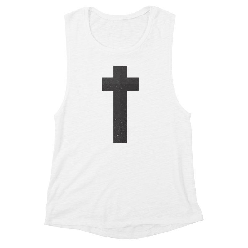 The Cross (black) Women's Muscle Tank by Reformed Christian Goods & Clothing