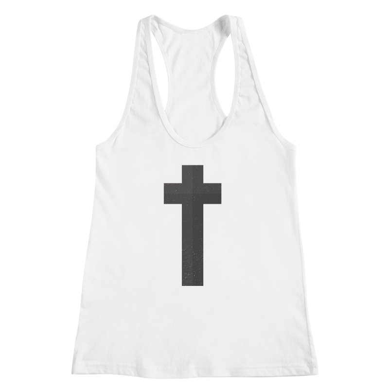 The Cross (black) Women's Racerback Tank by Reformed Christian Goods & Clothing