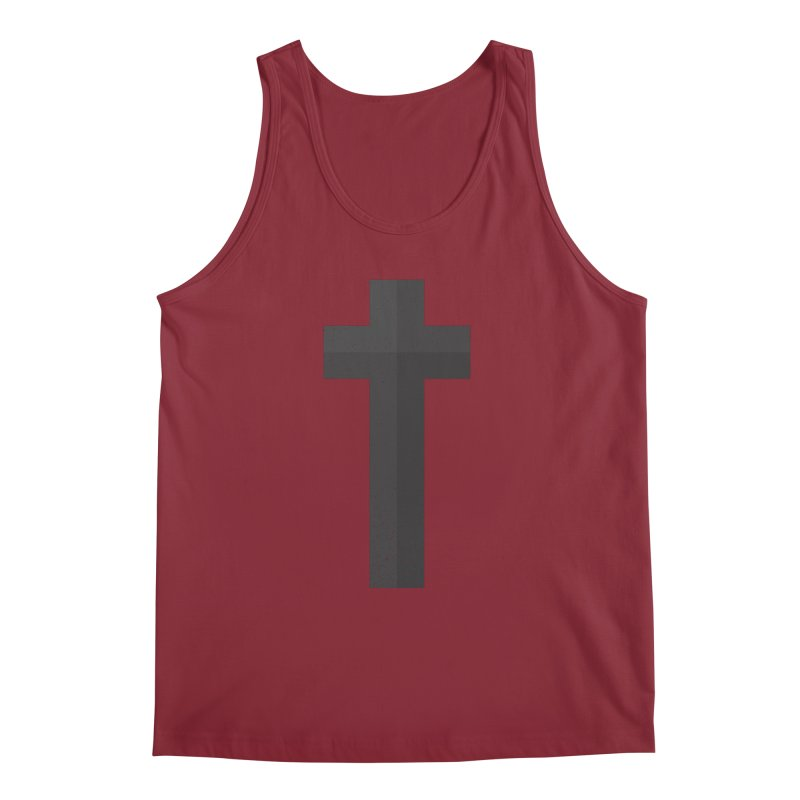The Cross (black) Men's Tank by Reformed Christian Goods & Clothing