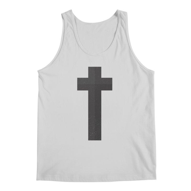 The Cross (black) Men's Tank by Reformed Christian Goods & Clothing
