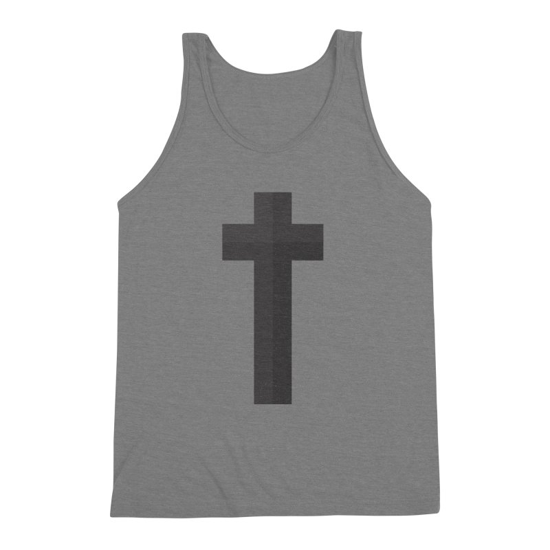 The Cross (black) Men's Triblend Tank by Reformed Christian Goods & Clothing