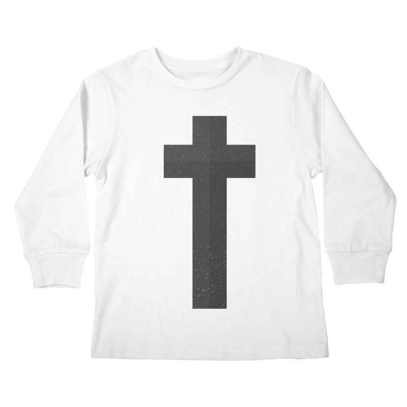 The Cross (black) Kids Longsleeve T-Shirt by Reformed Christian Goods & Clothing