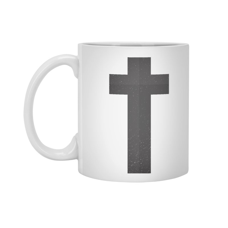 The Cross (black) Accessories Mug by Reformed Christian Goods & Clothing