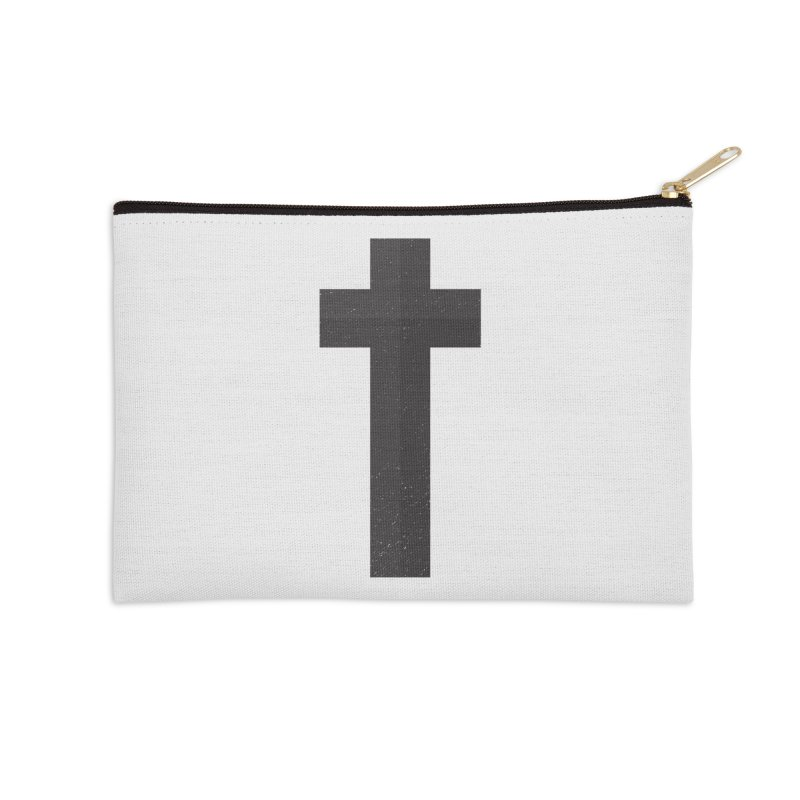 The Cross (black) Accessories Zip Pouch by Reformed Christian Goods & Clothing