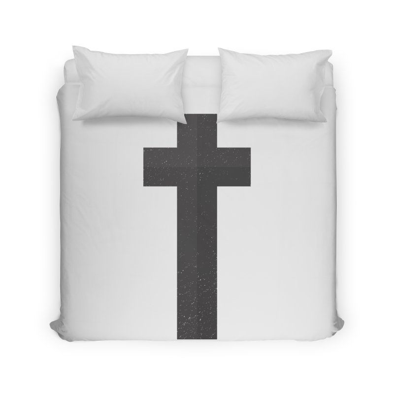 The Cross (black) Home Duvet by Reformed Christian Goods & Clothing