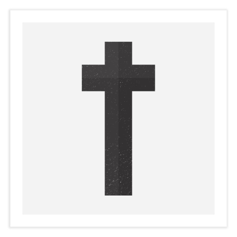 The Cross (black) Home Fine Art Print by Reformed Christian Goods & Clothing