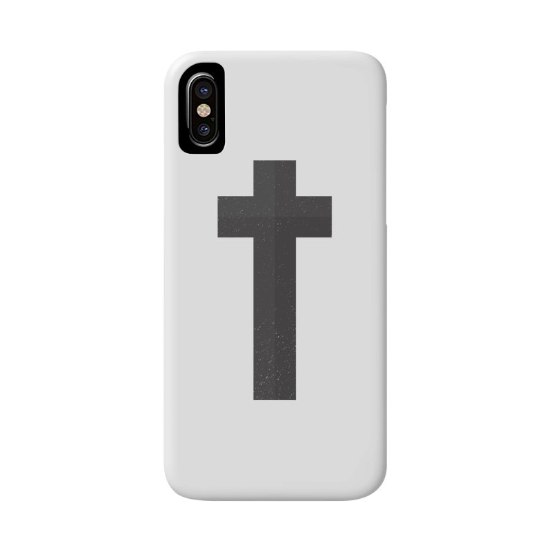 The Cross (black) Accessories Phone Case by Reformed Christian Goods & Clothing