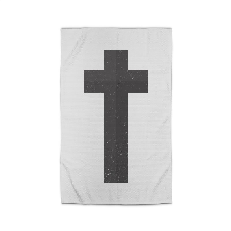 The Cross (black) Home Rug by Reformed Christian Goods & Clothing