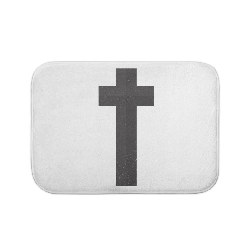 The Cross (black) Home Bath Mat by Reformed Christian Goods & Clothing