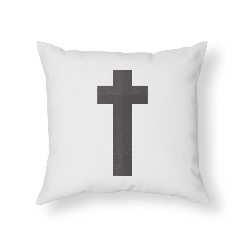 The Cross (black) Home Throw Pillow by Reformed Christian Goods & Clothing