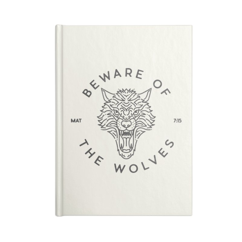 Beware of the Wolves (black) Accessories Notebook by Reformed Christian Goods & Clothing