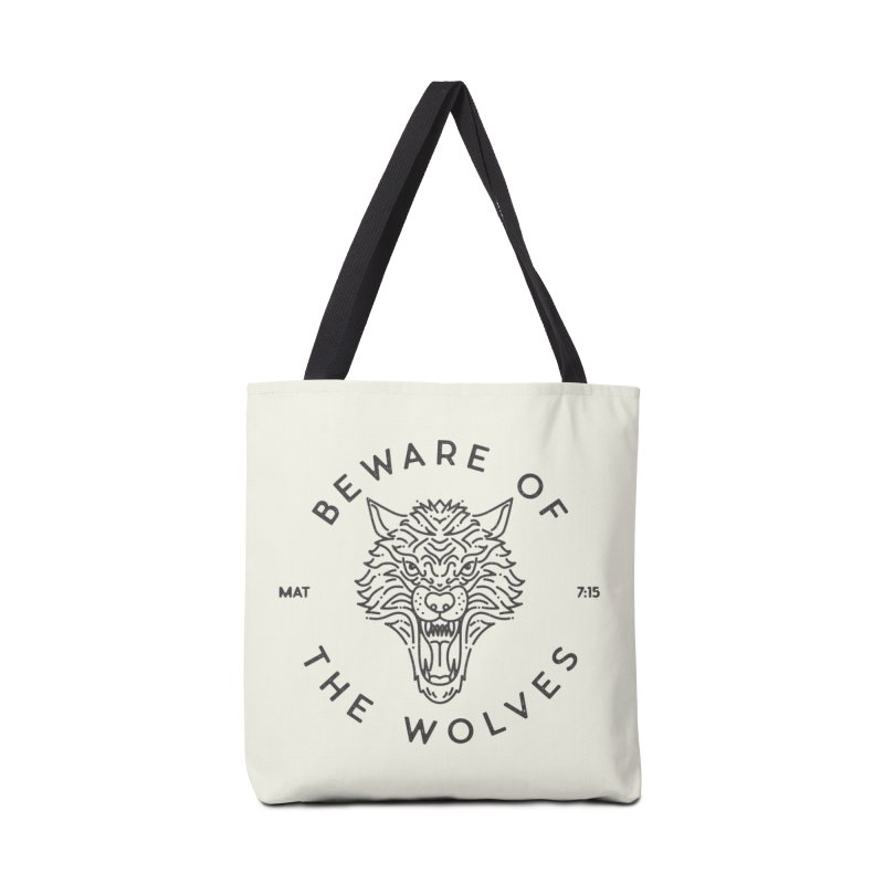Beware of the Wolves (black) Accessories Bag by Reformed Christian Goods & Clothing