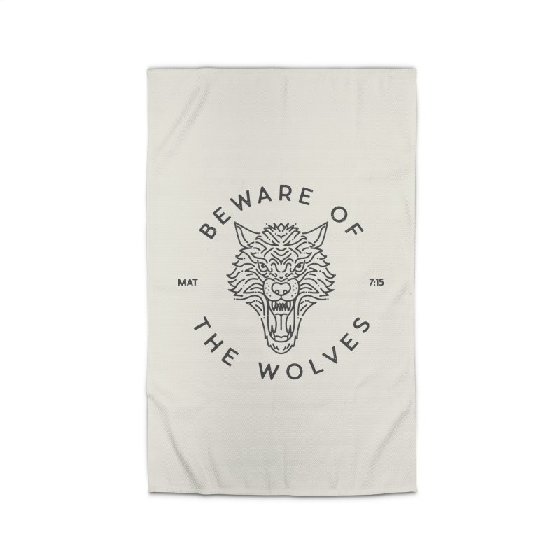 Beware of the Wolves (black) Home Rug by Reformed Christian Goods & Clothing
