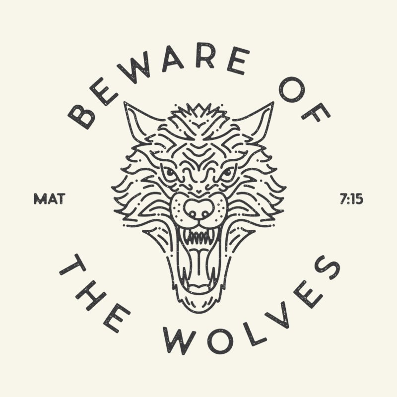 Beware of the Wolves (black) by A Worthy Manner Goods & Clothing