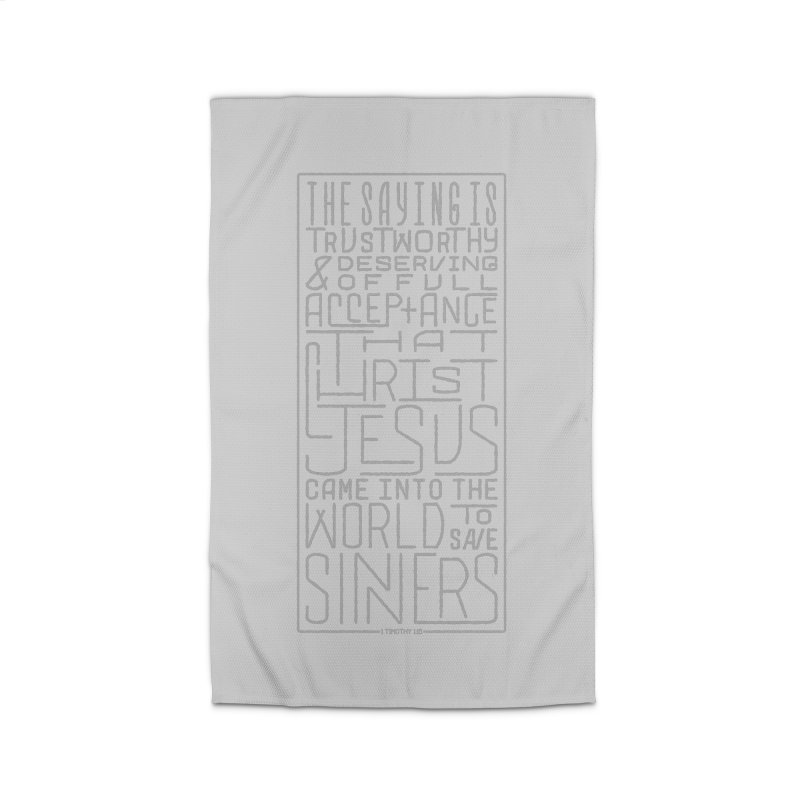 Christ Jesus Came Into the World to Save Sinners | 1 Timothy 1:15 (grey) Home Rug by Reformed Christian Goods & Clothing