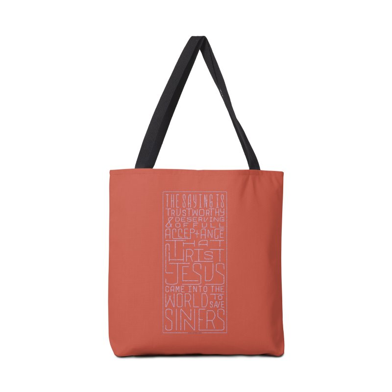 Christ Jesus Came Into the World to Save Sinners | 1 Timothy 1:15 (pink) Accessories Bag by Reformed Christian Goods & Clothing