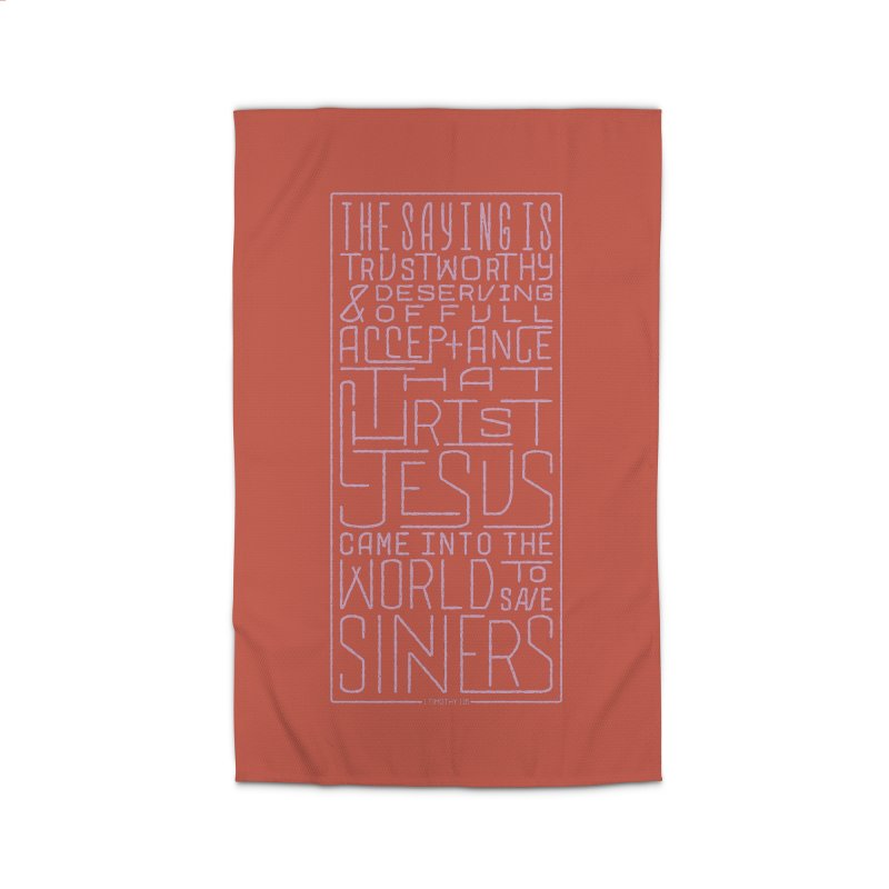 Christ Jesus Came Into the World to Save Sinners | 1 Timothy 1:15 (pink) Home Rug by Reformed Christian Goods & Clothing