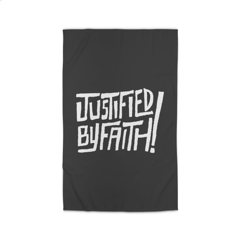 Justified by Faith! Home Rug by Reformed Christian Goods & Clothing