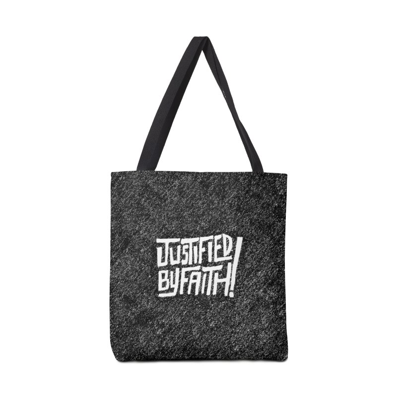 Justified by Faith! Accessories Tote Bag Bag by Reformed Christian Goods & Clothing