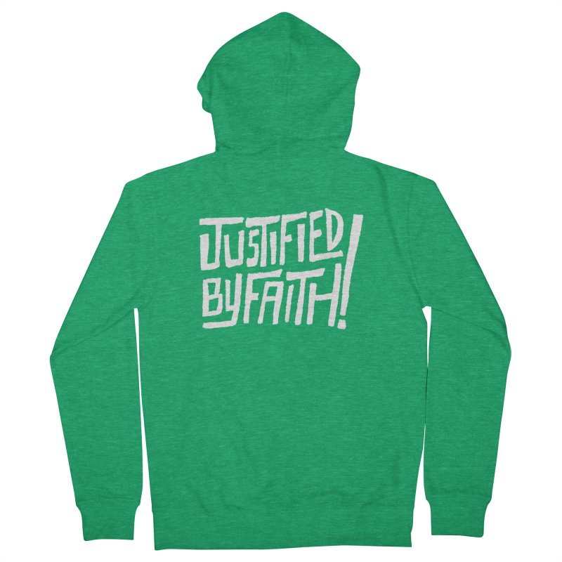 Justified by Faith! Men's French Terry Zip-Up Hoody by Reformed Christian Goods & Clothing