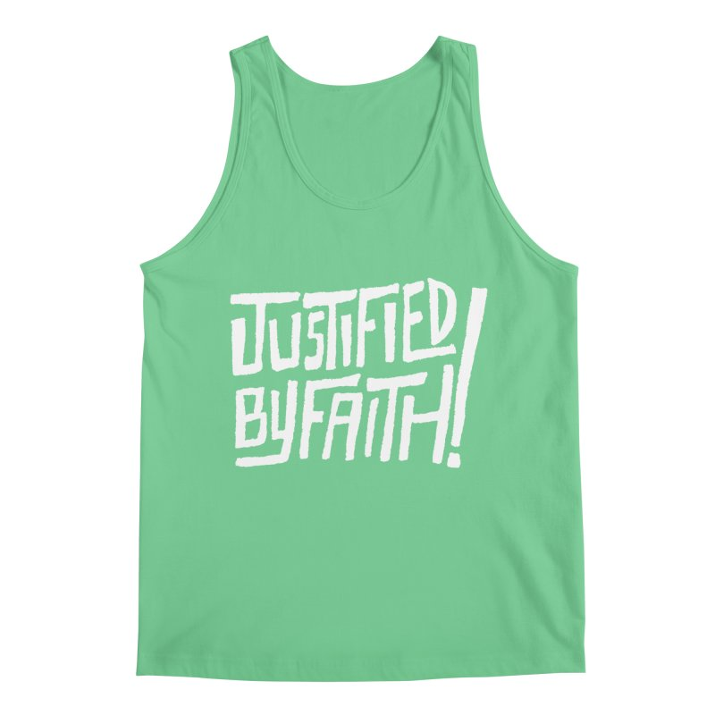Justified by Faith! Men's Regular Tank by A Worthy Manner Goods & Clothing
