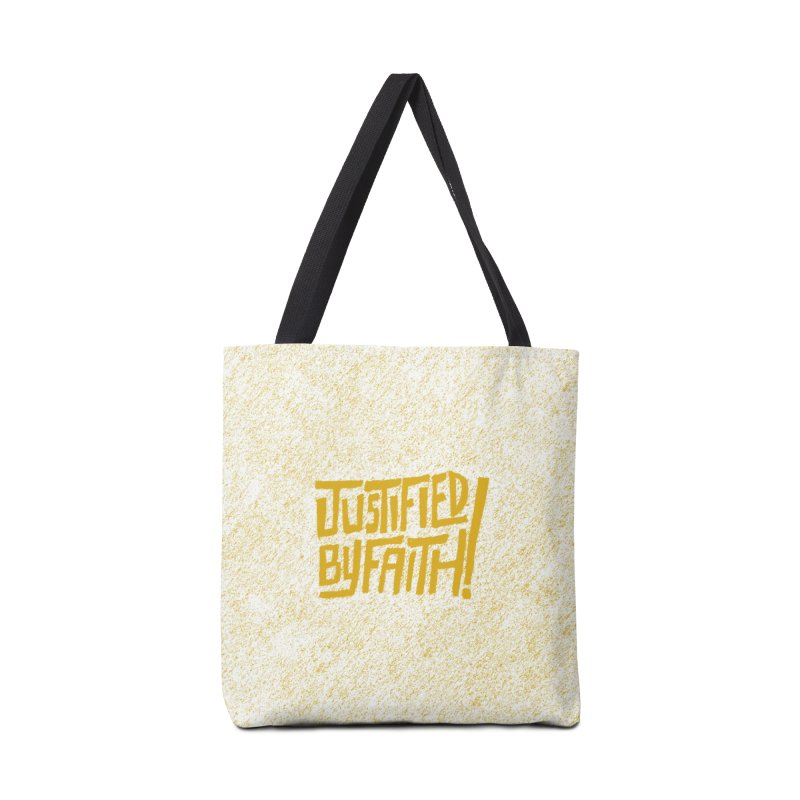 Justified by Faith! (gold) Accessories Bag by Reformed Christian Goods & Clothing