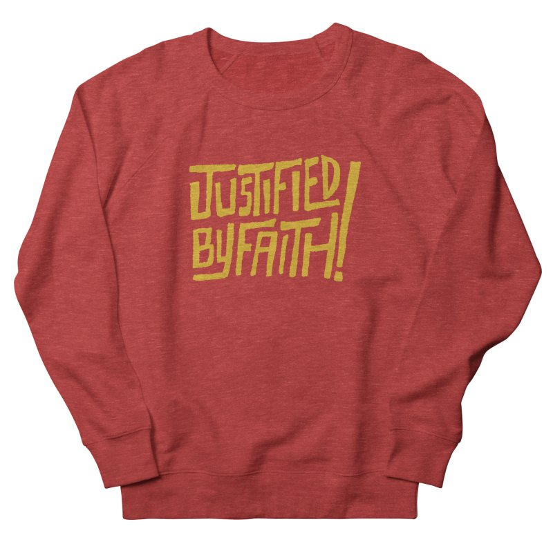 Justified by Faith! (gold) Men's  by Reformed Christian Goods & Clothing