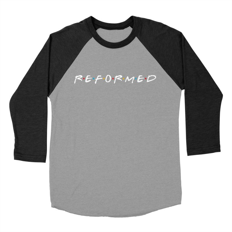 Reformed (Friends) Men's Baseball Triblend Longsleeve T-Shirt by Reformed Christian Goods & Clothing