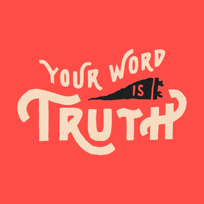 Your Word is Truth (tan) Men's V-Neck by A Worthy Manner Goods & Clothing