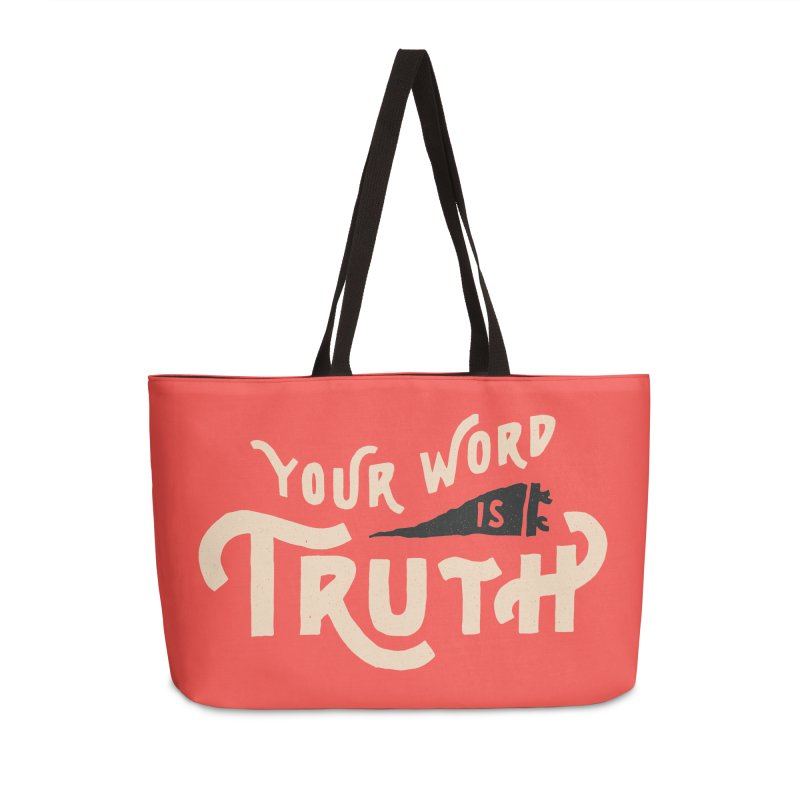 Your Word is Truth (tan) Accessories Weekender Bag Bag by Reformed Christian Goods & Clothing