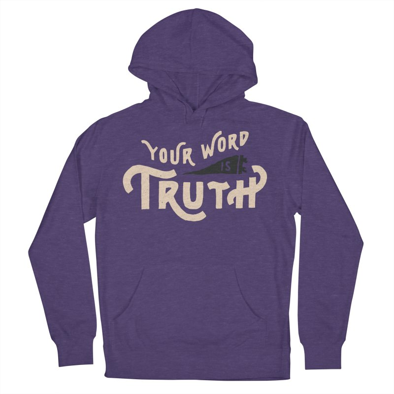 Your Word is Truth (tan) Men's French Terry Pullover Hoody by Reformed Christian Goods & Clothing