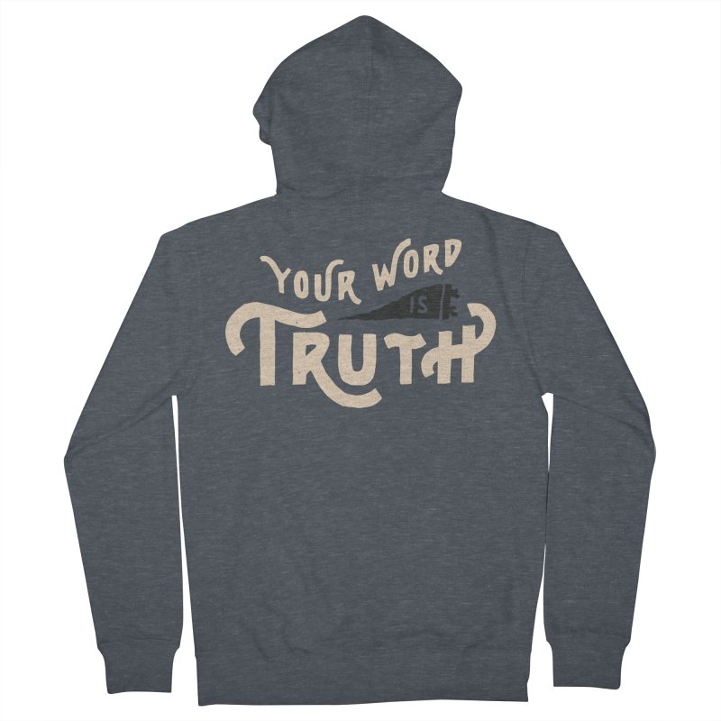 Your Word is Truth (tan) Men's French Terry Zip-Up Hoody by Reformed Christian Goods & Clothing