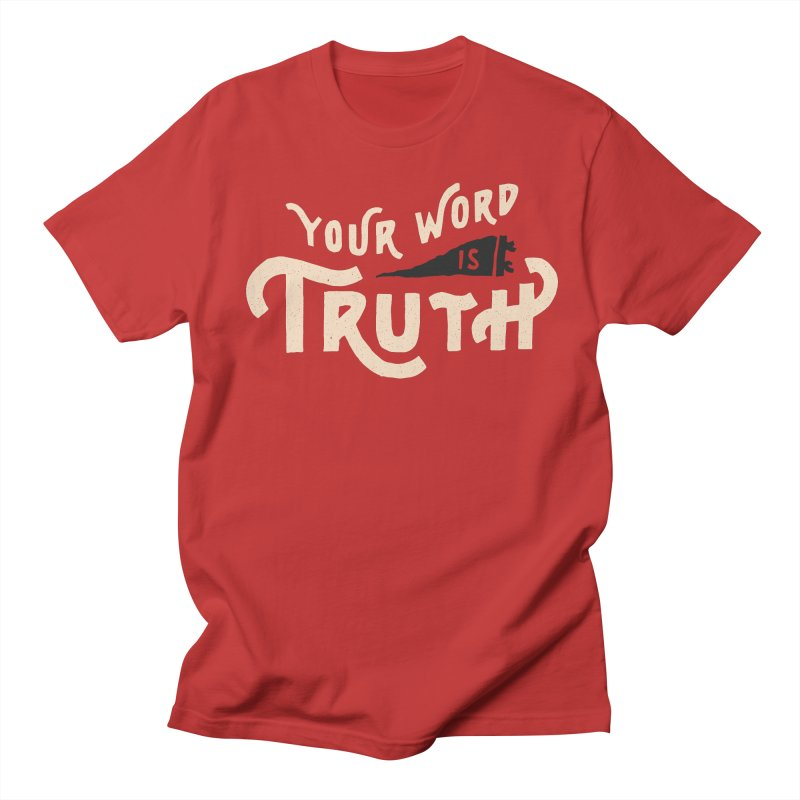 Your Word is Truth (tan) Men's Regular T-Shirt by Reformed Christian Goods & Clothing