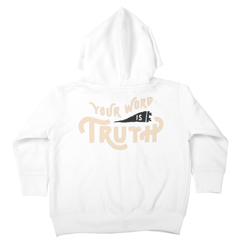 Your Word is Truth (tan) Kids Toddler Zip-Up Hoody by Reformed Christian Goods & Clothing