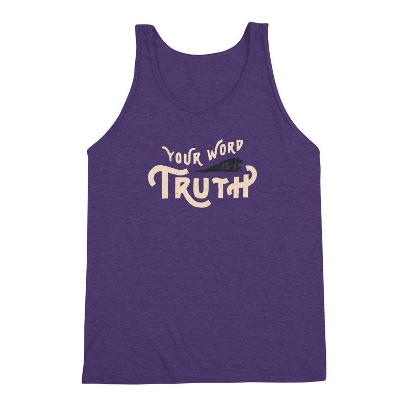 Your Word is Truth (tan) Men's Triblend Tank by A Worthy Manner Goods & Clothing