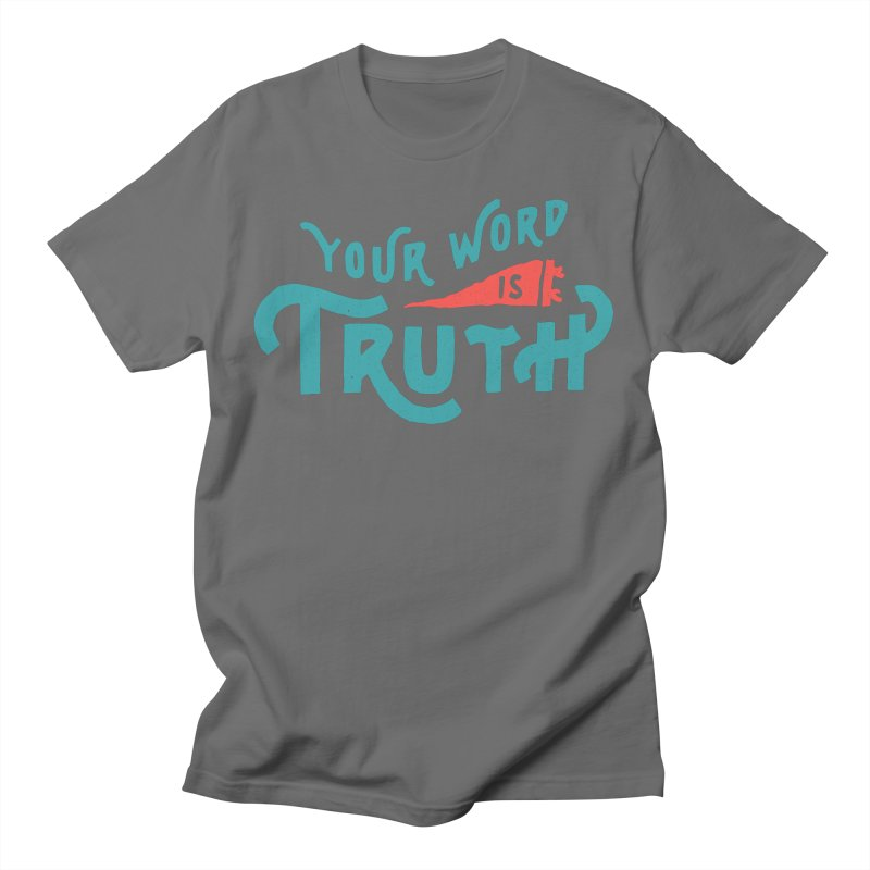Your Word is Truth (blue) Men's T-Shirt by A Worthy Manner Goods & Clothing