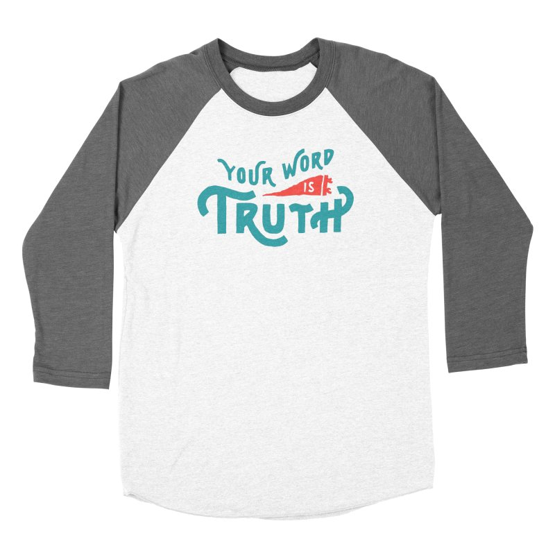 Your Word is Truth (blue) Women's Longsleeve T-Shirt by A Worthy Manner Goods & Clothing