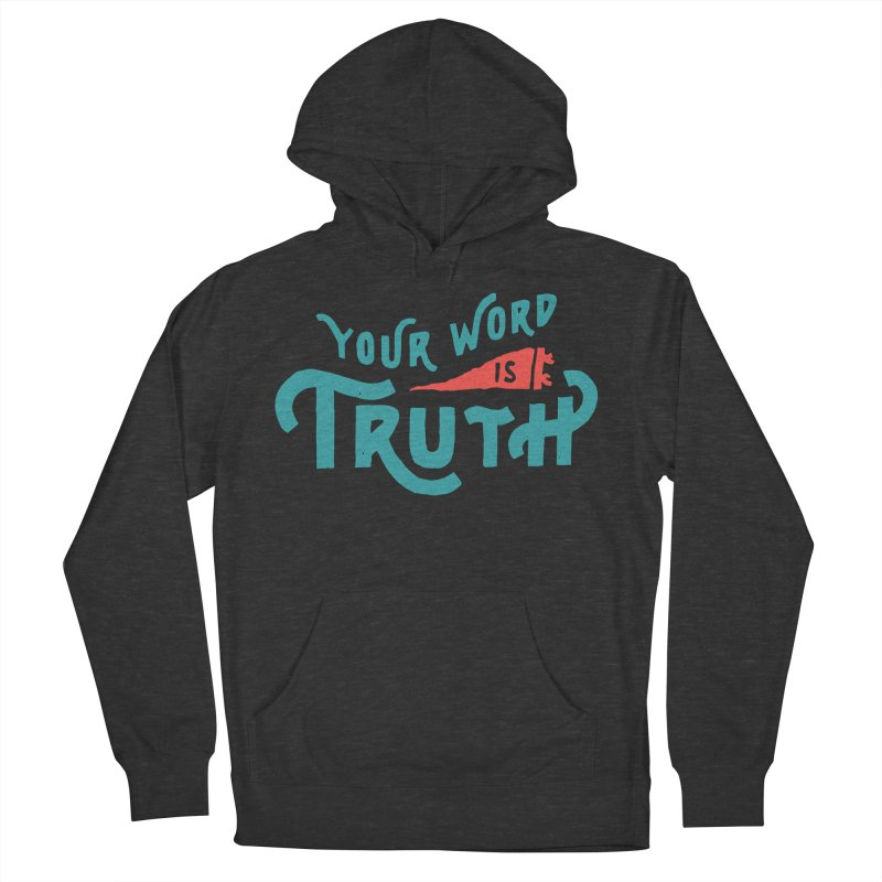 Your Word is Truth (blue) Women's French Terry Pullover Hoody by Reformed Christian Goods & Clothing