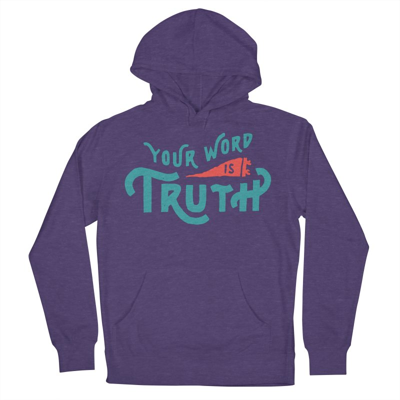 Your Word is Truth (blue) Men's French Terry Pullover Hoody by Reformed Christian Goods & Clothing
