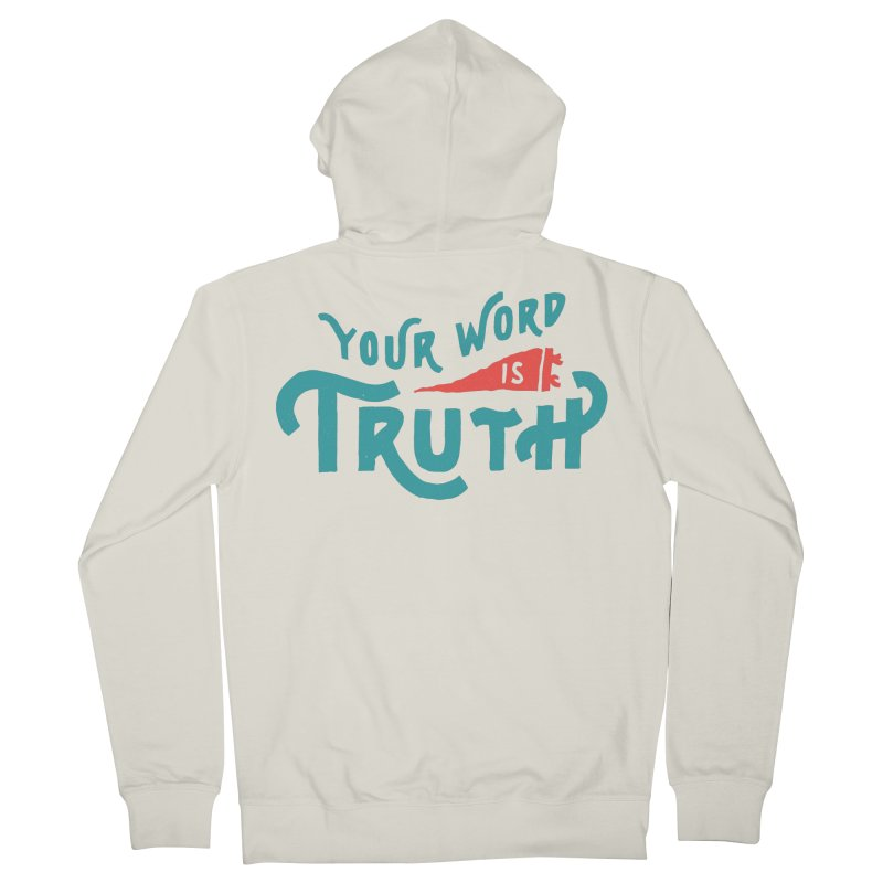 Your Word is Truth (blue) Women's French Terry Zip-Up Hoody by Reformed Christian Goods & Clothing