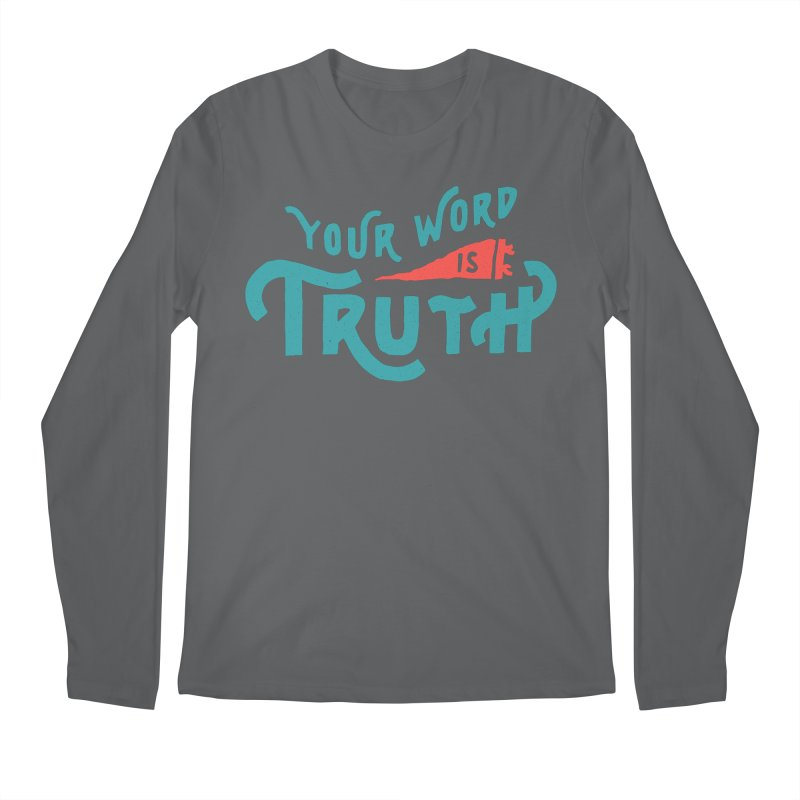 Your Word is Truth (blue) Men's Regular Longsleeve T-Shirt by Reformed Christian Goods & Clothing